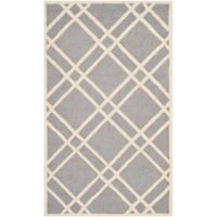 Safavieh Cambridge 3-Foot x 5-Foot Trina Wool Rug in Silver/Ivory
