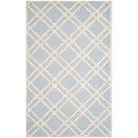 Safavieh Cambridge 3-Foot x 5-Foot Trina Wool Rug in Light Blue/Ivory