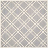 Safavieh Cambridge 6-Foot x 6-Foot Trina Wool Rug in Silver/Ivory