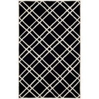 Safavieh Cambridge 6-Foot x 9-Foot Trina Wool Rug in Black/Ivory