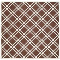 Safavieh Cambridge 8-Foot x 8-Foot Trina Wool Rug in Dark Brown/Ivory