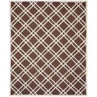 Safavieh Cambridge 9-Foot x 12-Foot Trina Wool Rug in Dark Brown/Ivory