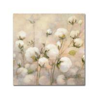 Julia Purinton Cotton Field Crop 14-Inch Square Canvas Wall Art