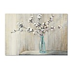 Julia Purinton Cotton Bouquet Crop 12-Inch x 19-Inch Canvas Wall Art