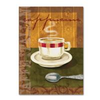 """""""Cappuccino"""" 14-Inch x 19-Inch Wrapped Canvas Wall Art"""