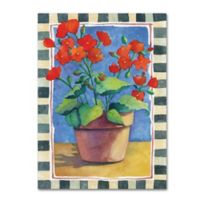 Geraniums 35-Inch x 47-Inch Canvas Wall Art