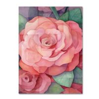 Rose 14-Inch x 19-Inch Canvas Wall Art in Pink
