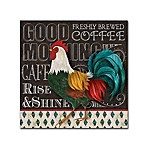 """Good Morning"" 18-Inch x 18-Inch Wrapped Canvas Wall Art"