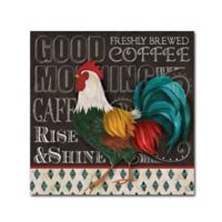 """Good Morning"" 14-Inch x 14-Inch Wrapped Canvas Wall Art"