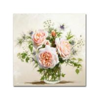 Old Roses 14-Inch Square Canvas Wall Art