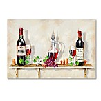 The Macneil Studio Wine Shelf 12-Inch x 19-Inch Canvas Wall Art