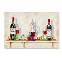 The Macneil Studio Wine Shelf 22-Inch x 32-Inch Canvas Wall Art