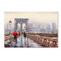 The Macneil Studio Brooklyn Bridge 22-Inch x 32-Inch Canvas Wall Art