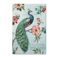 Lisa Audit Blue Feathered Peacock 22-Inch x 32-Inch Canvas Wall Art