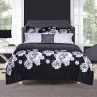 Bailey 8-Piece Queen Comforter Set in Black/White