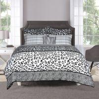 Chelsea 6-Piece Full Comforter Set in Black/White