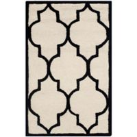 Safavieh Cambridge 2-Foot x 3-Foot Tara Wool Rug in Ivory/Black