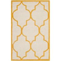 Safavieh Cambridge 2-Foot x 3-Foot Tara Wool Rug in Ivory/Gold