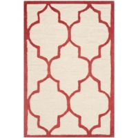 Safavieh Cambridge 2-Foot x 3-Foot Tara Wool Rug in Ivory/Rust