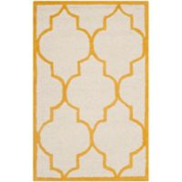Safavieh Cambridge 2-Foot 6-Inch x 4-Foot Tara Wool Rug in Ivory/Gold