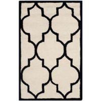Safavieh Cambridge 2-Foot 6-Inch x 4-Foot Tara Wool Rug in Ivory/Black