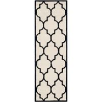 Safavieh Cambridge 2-Foot 6-Inch x 8-Foot Tara Wool Rug in Ivory/Black