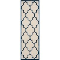 Safavieh Cambridge 2-Foot 6-Inch x 8-Foot Tara Wool Rug in Ivory/Navy