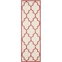 Safavieh Cambridge 2-Foot 6-Inch x 10-Foot Tara Wool Rug in Ivory/Rust