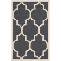 Safavieh Cambridge 3-Foot x 5-Foot Tara Wool Rug in Dark Grey/Ivory