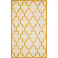 Safavieh Cambridge 3-Foot x 5-Foot Tara Wool Rug in Ivory/Gold