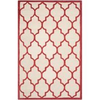Safavieh Cambridge 3-Foot x 5-Foot Tara Wool Rug in Ivory/Rust