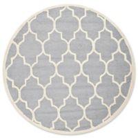 Safavieh Cambridge 4-Foot x 4-Foot Tara Wool Rug in Silver/Ivory