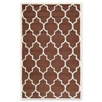 Safavieh Cambridge 4-Foot x 6-Foot Tara Wool Rug in Dark Brown/Ivory