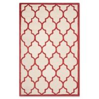 Safavieh Cambridge 5-Foot x 8-Foot Tara Wool Rug in Ivory/Rust