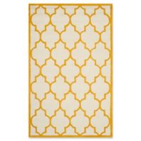 Safavieh Cambridge 5-Foot x 8-Foot Tara Wool Rug in Ivory/Gold