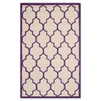 Safavieh Cambridge 5-Foot x 8-Foot Tara Wool Rug in Ivory/Purple