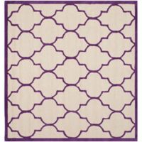 Safavieh Cambridge 6-Foot x 6-Foot Tara Wool Rug in Ivory/Purple