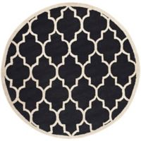 Safavieh Cambridge 6-Foot x 6-Foot Tara Wool Rug in Black/Ivory