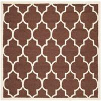 Safavieh Cambridge 6-Foot x 6-Foot Tara Wool Rug in Dark Brown/Ivory