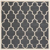 Safavieh Cambridge 6-Foot x 6-Foot Tara Wool Rug in Dark Grey/Ivory