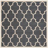 Safavieh Cambridge 8-Foot x 8-Foot Tara Wool Rug in Dark Grey/Ivory