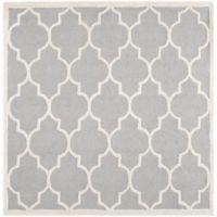 Safavieh Cambridge 8-Foot x 8-Foot Tara Wool Rug in Silver/Ivory