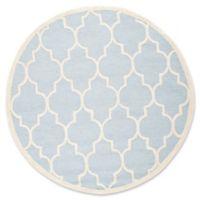 Safavieh Cambridge 8-Foot x 8-Foot Tara Wool Rug in Light Blue/Ivory