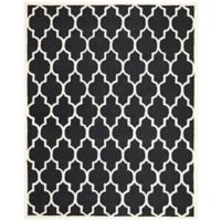 Safavieh Cambridge 9-Foot x 12-Foot Tara Wool Rug in Black/Ivory