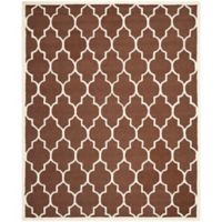 Safavieh Cambridge 9-Foot x 12-Foot Tara Wool Rug in Dark Brown/Ivory