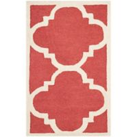 Safavieh Cambridge 2-Foot 6-Inch x 4-Foot Lynn Wool Rug in Rust/Ivory