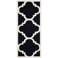Safavieh Cambridge 2-Foot 6-Inch x 6-Foot Lynn Wool Rug in Black/Ivory