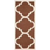 Safavieh Cambridge 2-Foot 6-Inch x 6-Foot Lynn Wool Rug in Dark Brown/Ivory