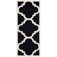 Safavieh Cambridge 2-Foot 6-Inch x 8-Foot Lynn Wool Rug in Black/Ivory