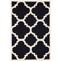 Safavieh Cambridge 3-Foot x 5-Foot Lynn Wool Rug in Black/Ivory